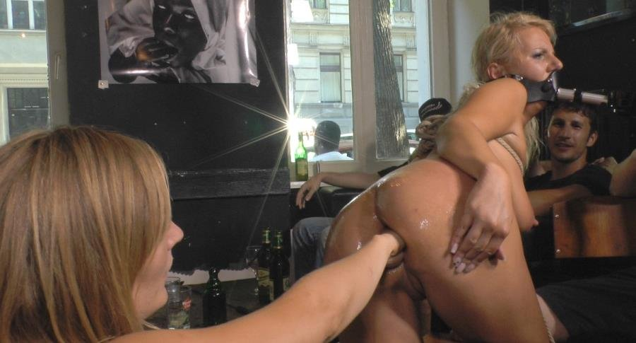 Mona Wales , Conny Dachs and Luci Angel - Horny Blonde Anal Slut Disgraced for Berlin Tourists (BDSM / Fisting) [SiteRip] - PublicDisgrace.com