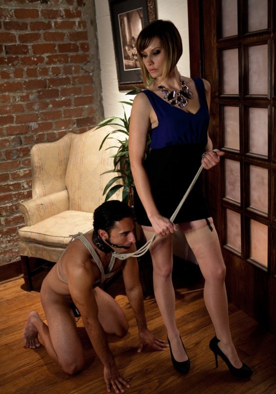 Maitresse Madeline, Gianni Luca - Maitresse Madeline cuckolds her boyfriend with a woman! (Femdom / Bondage) [HD] - DivineBitches.com/Kink.com
