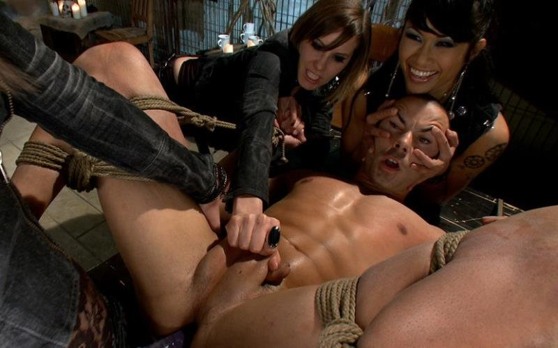 DragonLily, Bobbi Starr, Maitresse Madeline and Nikko Alexander - A Man With Three Balls Means One For Each Domme! (Femdom / BDSM) [HD] - Kink.com / DivineBitches.com