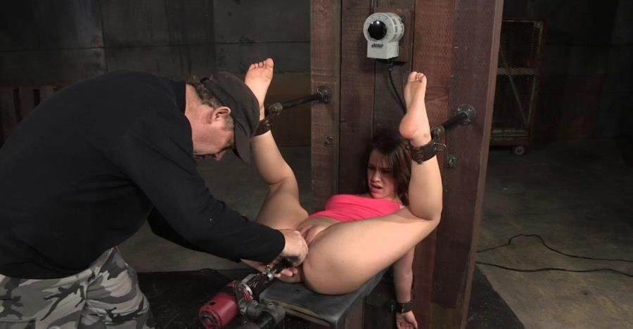 Devilynne - Devilynne bound in half and tag team fucked by huge cock, finished off with fucking machine! (BDSM / Bondage) [HD 720p] - SexuallyBroken.com