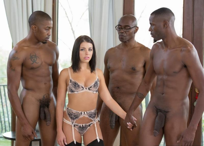 Adriana Chechik - Brunette Babe Takes Trio of BBCs (Anal / DP) [SD] - Blacked.com
