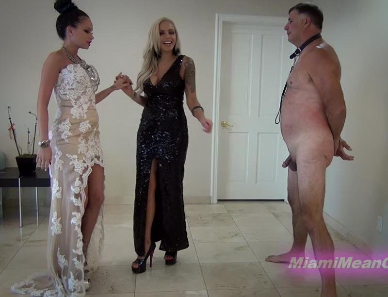 Goddess Raven Bay, Goddess Nina Elle - The Elegant Ballbusting (Mistress / Female Domination) [FullHD] - MiamiMeanGirls.com/Clips4sale.com