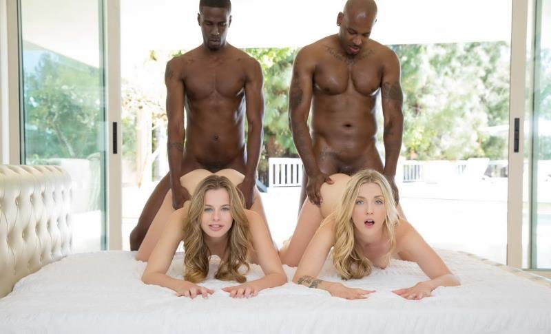 Jillian Janson, Karla Kush - Interracial Foursome for Two Beautiful Blonde Girls (Facial / Hardcore) [SD] - Blacked.com
