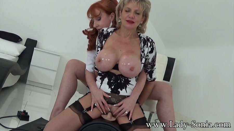 Lady Sonia - Two Married Ladies And The Sybian (Mature / Lesbi) [FullHD 1080p] - Lady-Sonia.com