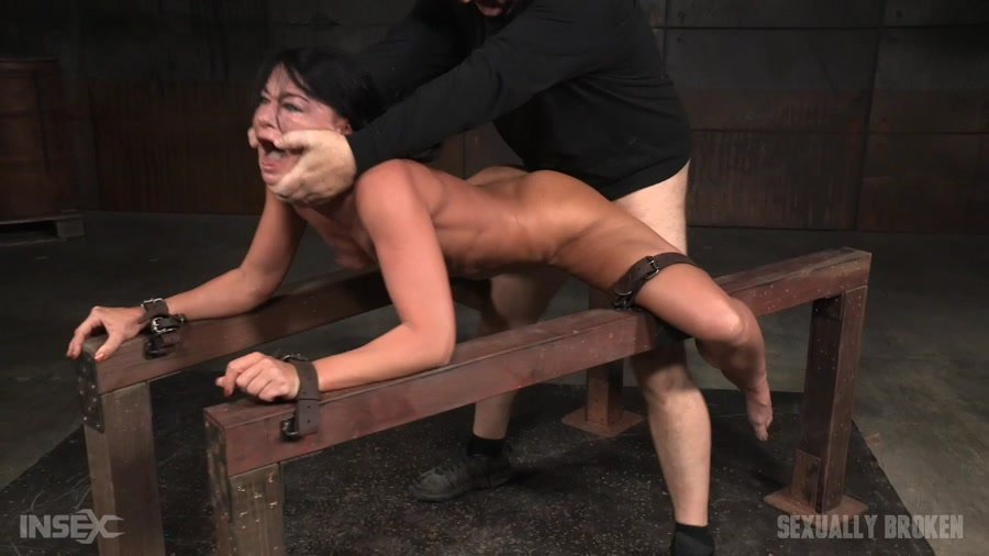 London River - Flexible London River bound and split in half by giant cock with drooling massive orgasms! (BDSM / Domination) [HD 720p] - SexuallyBroken.com