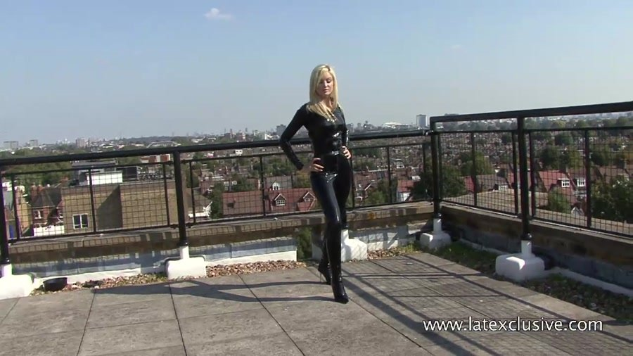 Christiana - Black Latex Catsuit (Latex / Fetish) [HD 720p] - Latexclusive.com