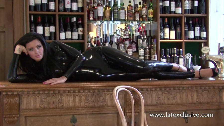 Chloe - Black Latex Sleeved Catsuit (Latex / Fetish) [HD 720p] - Latexclusive.com