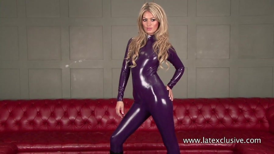 Charlotte - Purple Latex Catsuit (Latex / Fetish) [HD 720p] - Latexclusive.com