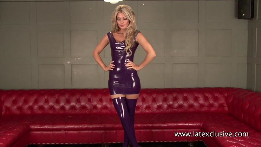 Charlotte - Purple Latex Dress (Latex / Fetish) [HD 720p] - Latexclusive.com