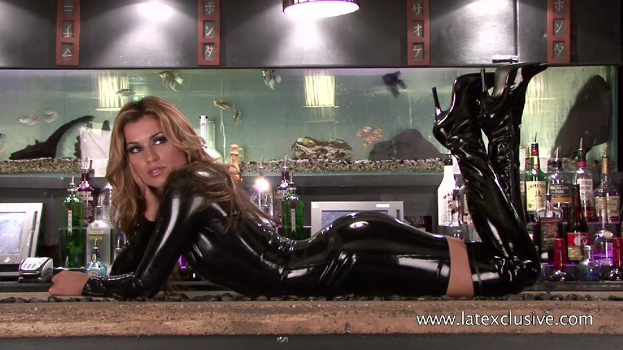 Catalina - Black Latex Dress (Latex / Fetish) [HD 720p] - Latexclusive.com