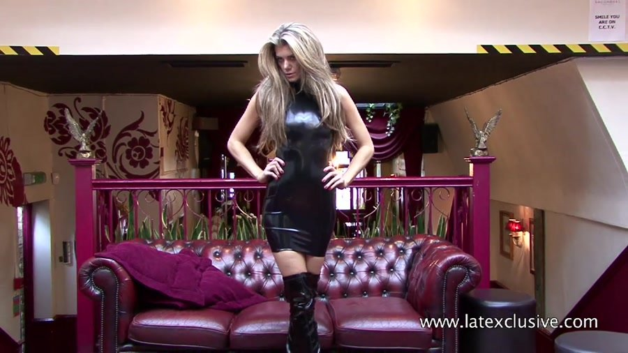 Arianna - Black Latex Dress (Latex / Fetish) [HD 720p] - Latexclusive.com