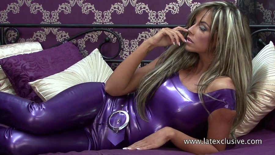 Jodie - Purple Latex Top (Ruber / Solo) [HD 720p] - Latexclusive.com