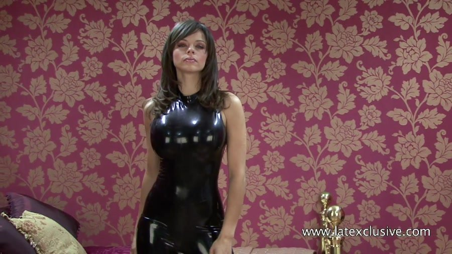 Jerri - Black Latex Sleeveless Catsuit (Ruber / Solo) [HD 720p] - Latexclusive.com