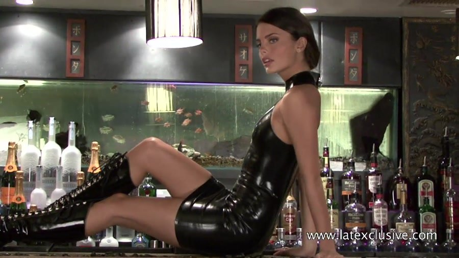 Lara - Black Latex Sleeveless Dress (Latex / Solo) [HD 720p] - Latexclusive.com