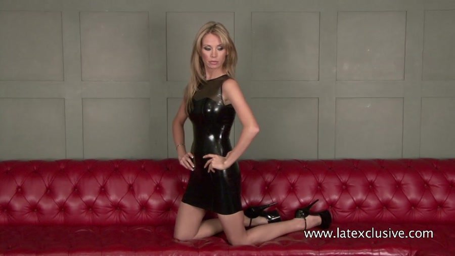 Natalie (Natasha) - Black Latex Sleeveless Dress (Latex / Fetish) [HD 720p] - Latexclusive.com