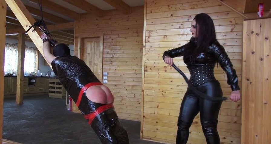 Mistress Ezada Sinn - Used in clingfilm (Femdom / Fetish) [HD 720p] - KinkyMistresses.com