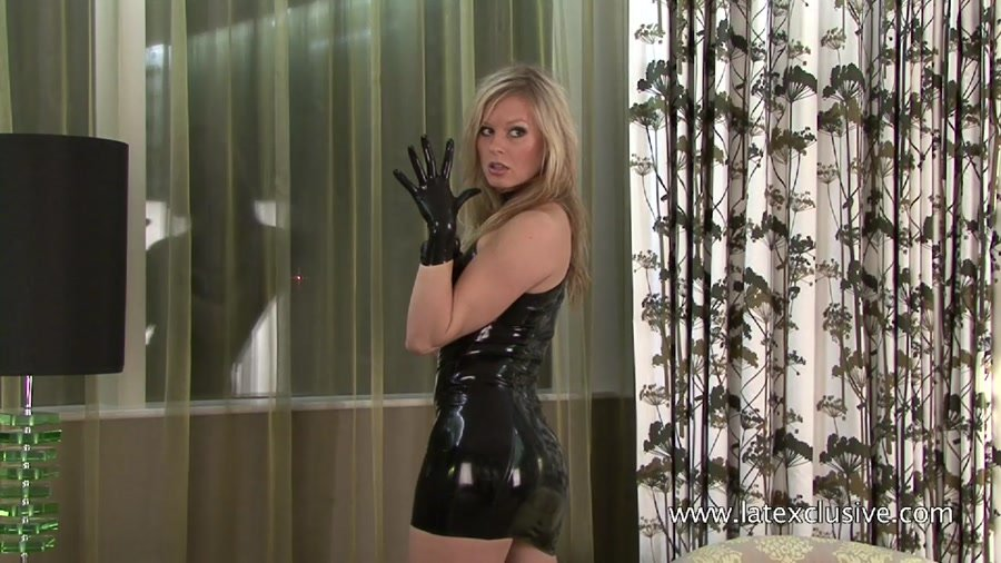 Mia - Black Latex Sleeveless Dress (Latex / Solo) [HD 720p] - Latexclusive.com