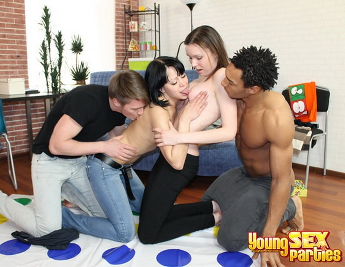 Alice, Veronica - From Twister To Four-Way (Hardcore / Teens) [HD] - YoungSexParties.com