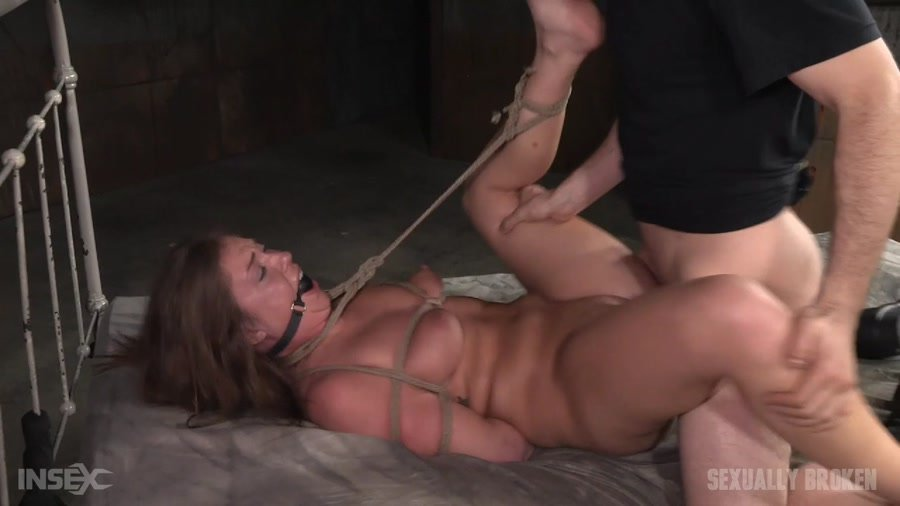 Maddy O'Reilly - Redheaded Maddy O'Reilly is ball gagged, tightly tied and ragdoll fucked by two big dicks! (BDSM / Domination / Bondage) [HD 720p] - SexuallyBroken.com