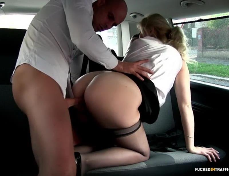 Barbara Nova - Czech blondie Barbara Nova gets fucked in a van (All Sex / Hardcore) [SD] - FuckedInTraffic.com