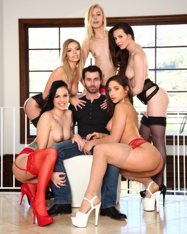 Casey Calvert, Rachael Madori, Abella Danger, Alexa Grace, Trisha Parks - 5 Girls, 1 James Deen (Hardcore / Group Sex) [HD] - JamesDeen.com