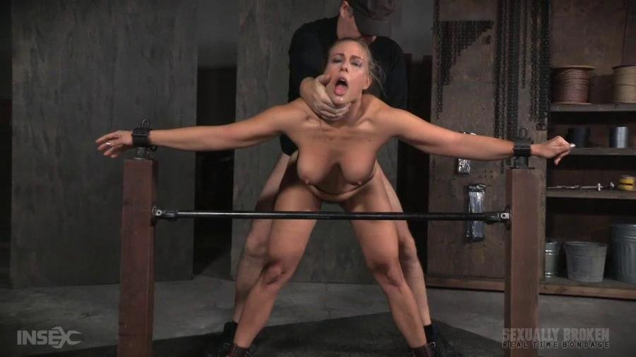 Angel Allwood - Angel Allwood BaRS show continues with a spit roasting on hard cock, brutal BBC deepthroat! (BDSM / Rough Sex) [HD 720p] - SexuallyBroken.com