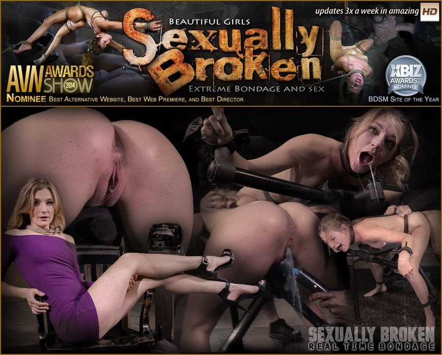 Mona Wales - Stunning Mona Wales dicked down by BBC in tight bondage, massive squirting multiple orgasms! (BDSM / Rough Sex) [HD 720p] - SexuallyBroken.com