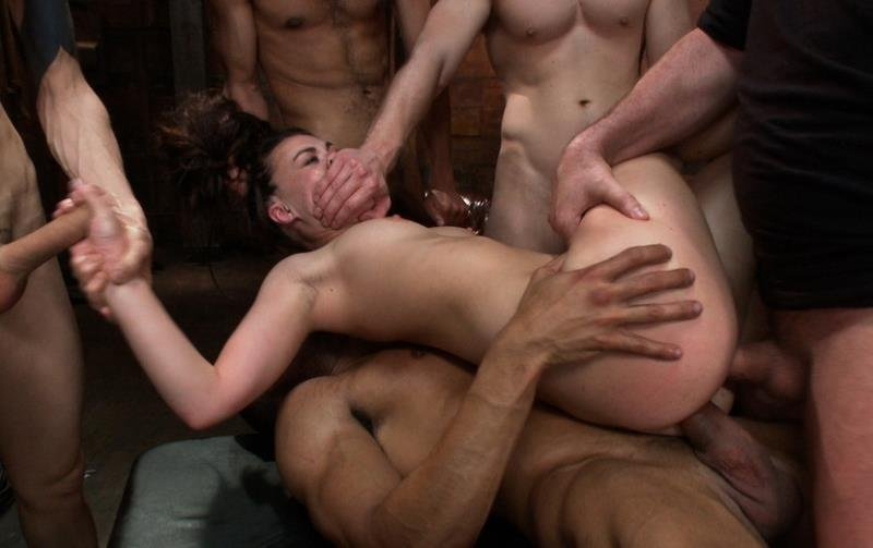 Tiffany Doll - Gorgeous French Girl Taken Down in Rough Gangbang (BDSM / Gang Bang) [HD] - BoundGangBangs.com/Kink.com