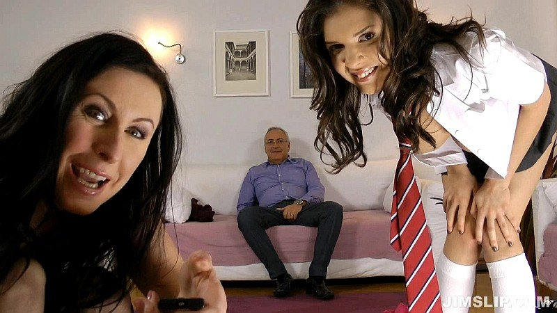 Lara Latex, Henessey - Sex crazed schoolgirl mayhem! (Threesome / Old Young) [HD] - JimSlip.com