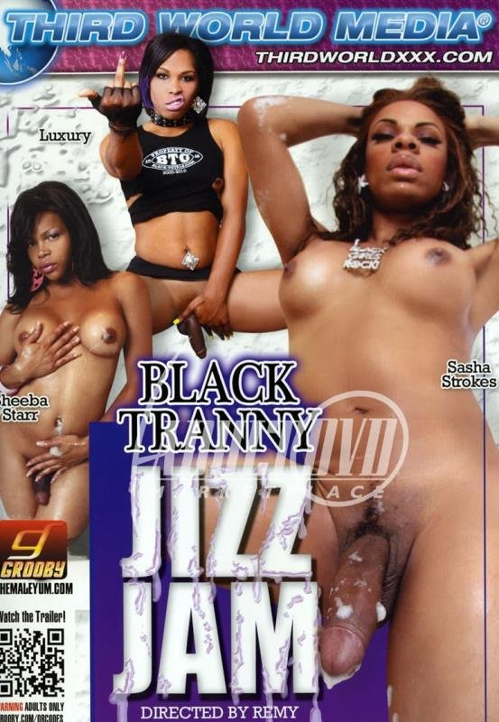 Luxury, Sheeba Starr, Sasha Stokes - Black Tranny Jizz Jam (Transsexual / Anal) [DVDRip 374p] - Third World Media