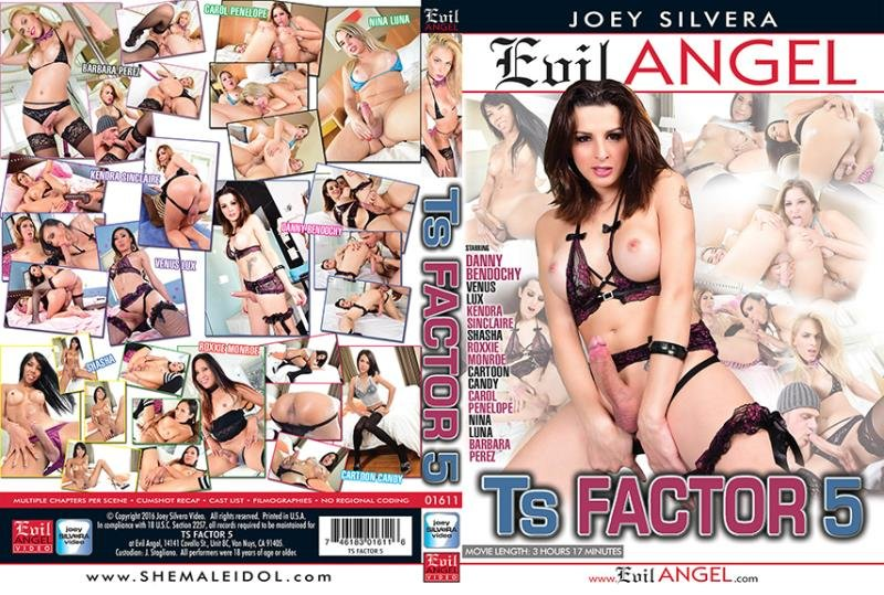 Alex Victor, Barbara Perez, Carol Penelope, Cartoon Candy, Danny Bendochy - TS Factor 5 (Transsexual / Anal) [WEBRip/SD 540p] - Evil Angel