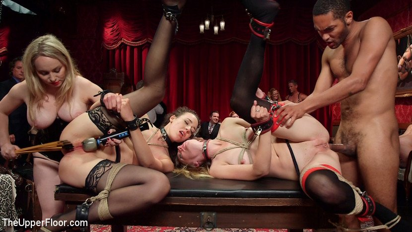 Aiden Starr, Lilith Luxe, Mona Wales, Bella Rossi, Kira Noir - A Slave Orgy Like No Other (BDSM / Rough Sex) [SD 540p] - TheUpperFloor.com