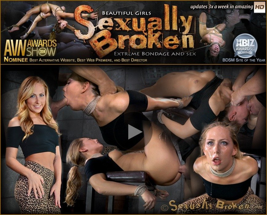 Carter Cruise - Blonde girl next door Carter Cruise tied up and ragdoll fucked from both ends messy epic deepthroat! (BDSM / Bondage) [HD 720p] - SexuallyBroken.com