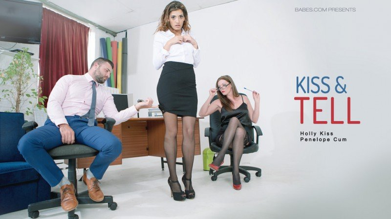 Holly Kiss, Penelope Cum - Kiss - Tell (Work Fantasies / Threesome) [SD] - OfficeObsession.com