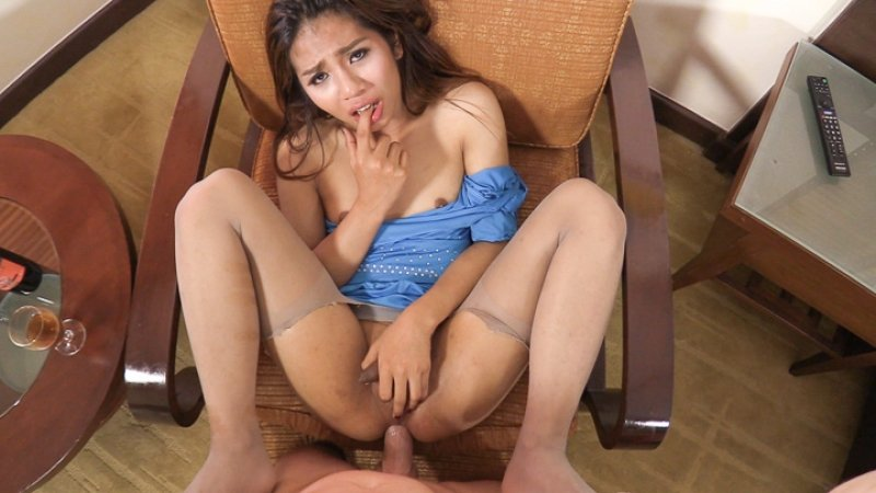 Aris - Hot Miniskirt Big Dick Ride (Ladyboy / Anal sex) [HD 720p] - LadyboyGold.com