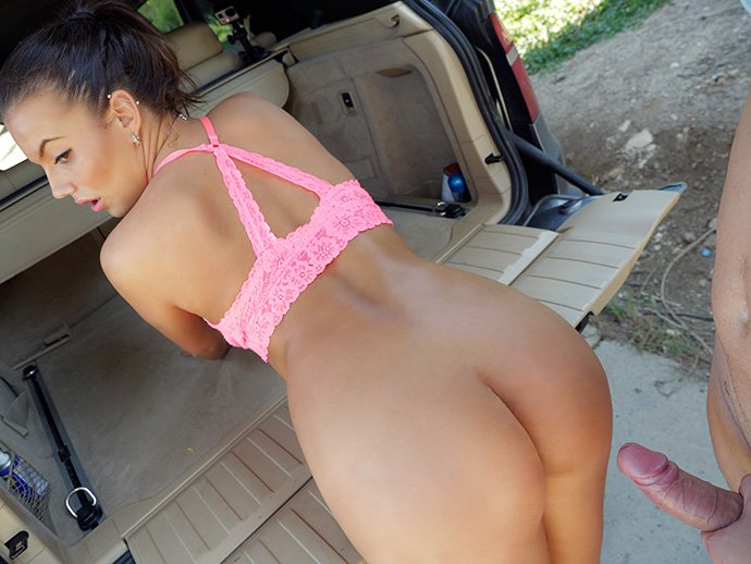 Vanessa Decker - Brunette Cabbie Fucked in Car Trunk (Milf / Hardcore) [SD] - FakeHub.com