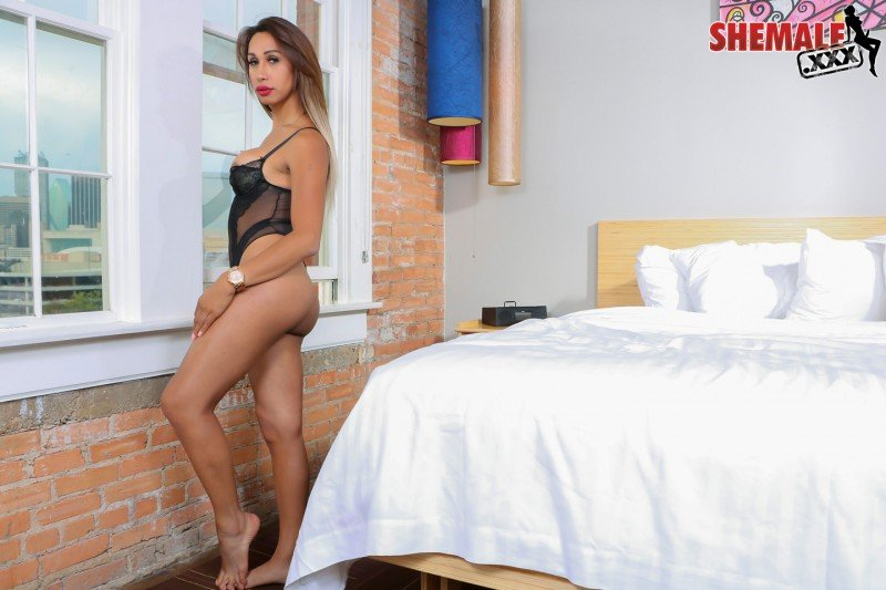 Luana - Gorgeous Luna Strokes her Cock! (Transsexual / Shemale) [HD 720p] - Shemale.xxx