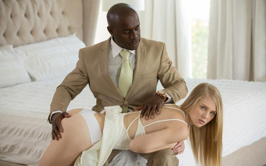 Lily Rader - Blonde Teen Punished and Dominated by Black Man (IR / Beautiful Girls) [SD] - Blacked.com