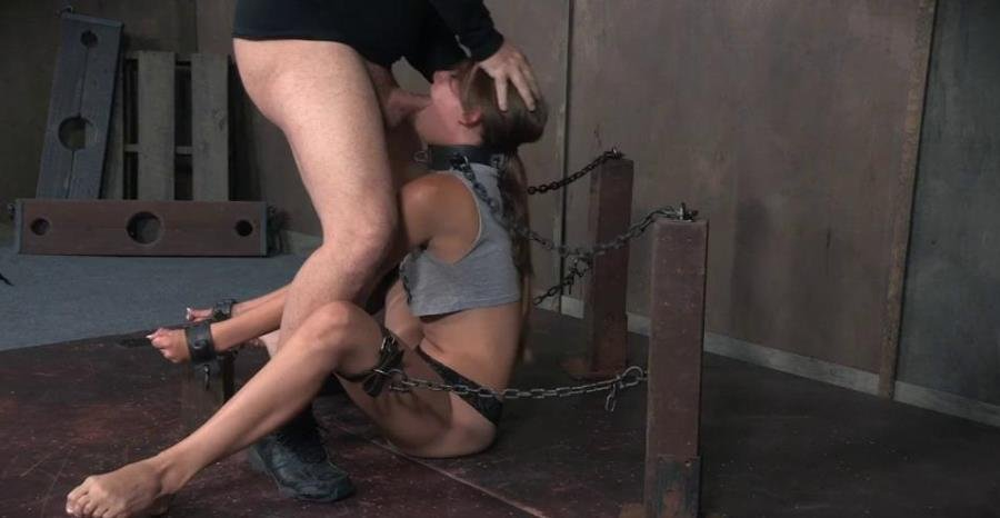 Zoey Lane - Zoey Laine is chained and shackled down. Brutal face fucking and orgasms! Helpless and breathless! (BDSM / Bondage) [SD] - SexuallyBroken.com