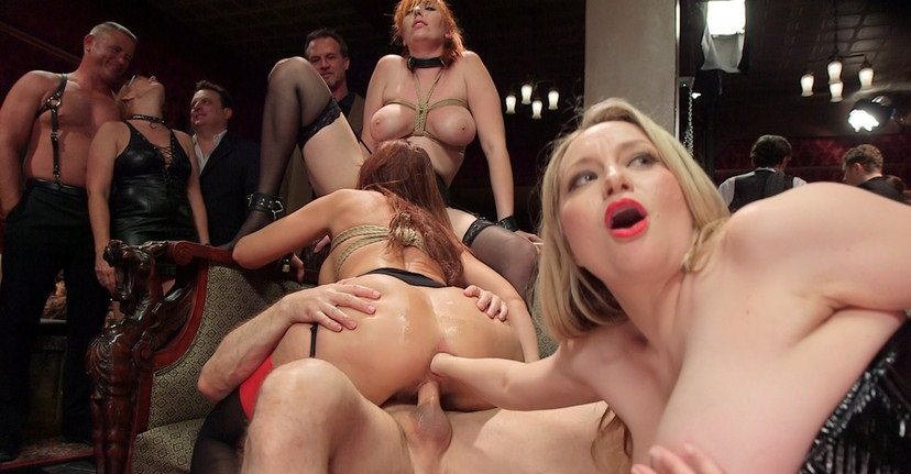Syren de Mer, Eliza Jane , Aiden Starr, Lauren Phillips, Quinn - The Fantastic Fucking Folsom Orgy Pt. 2 (BDSM / Bondage) [SD] - TheUpperFloor.com