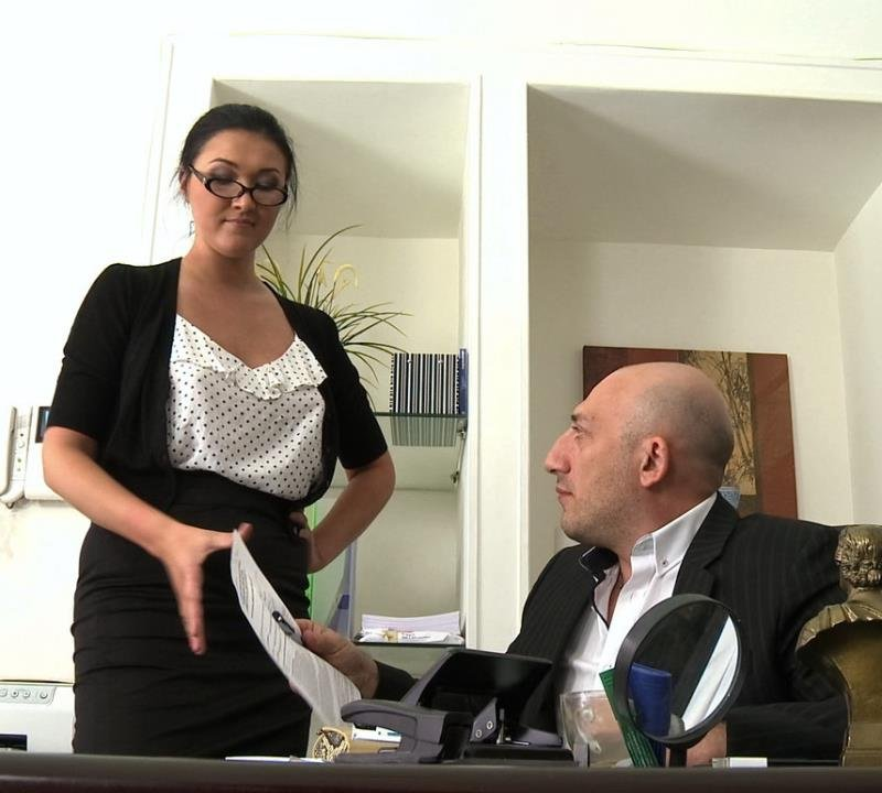 Vanessa - Secretary Take Down: Boss and Friends Tie her up and Fill her Pussy (BDSM / Anal) [SD] - BoundGangBangs.com
