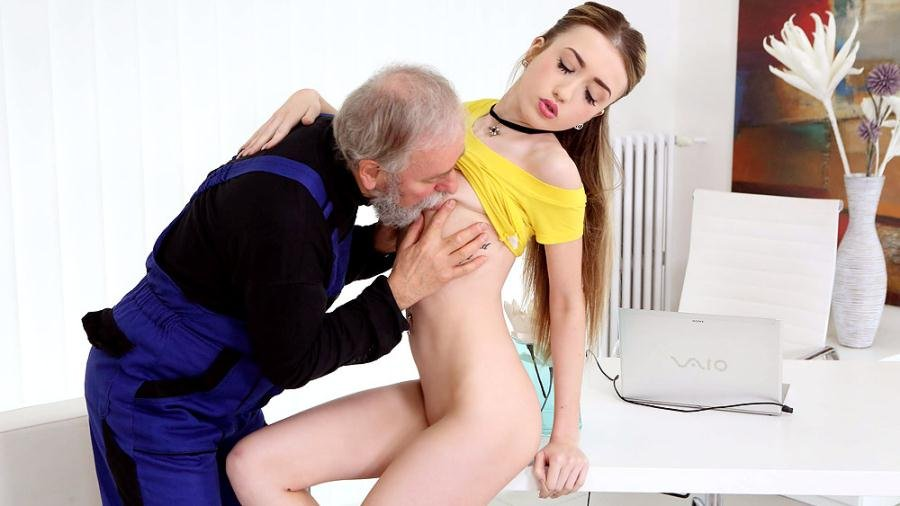 Vlada aka Vladlena - Vlada gets her first taste of old man cock (Old and Young / Hardcore) [SD] - OldGoesYoung.com