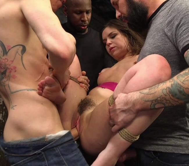Juliette March, Small Hands, Tommy Pistol, Jon Jon, Tarzan, Owen Gray - Fucking The Film Crew (Anal / BDSM) [SD] - HardcoreGangBang.com