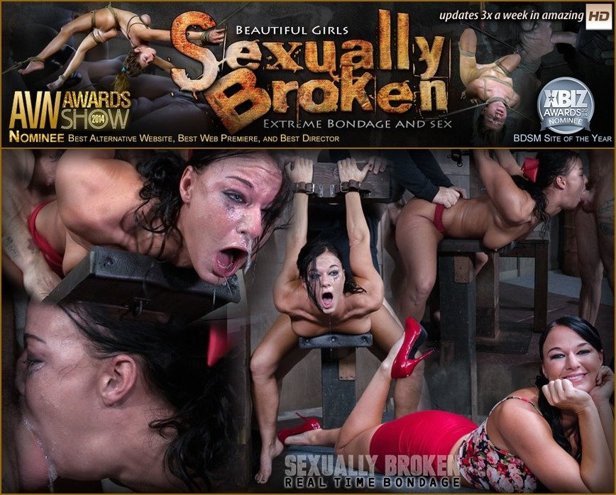 London River - London River Struggles In Bondage While Being Fucked, Swallowing Cock and Cumming! (BDSM / Domination) [SD 540p] - SexuallyBroken.com