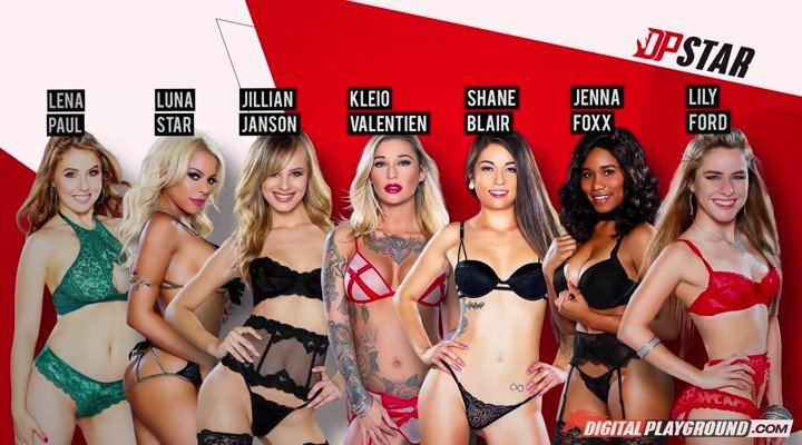 Kleio Valentien, Lily Ford, Jillian Janson, Luna Star, Shane Blair, Lena Paul, Jenna Foxx - DP Star 3. Audition Ep.3 (Pornstar / Show) [SD] - DigitalPlayground.com