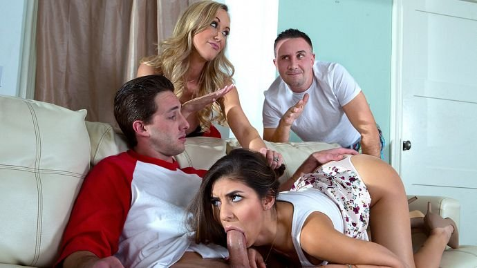 Brandi Love, Nina North - Sex Ed Abroad (GroupSex / Incest) [SD] - DigitalPlayground.com