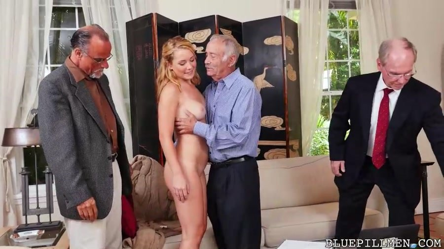 Raylin Ann - Frankie And The Gang Tag Team a Door To Door Saleswoman (Teen / Old Man) [SD] - BluePillMen.com