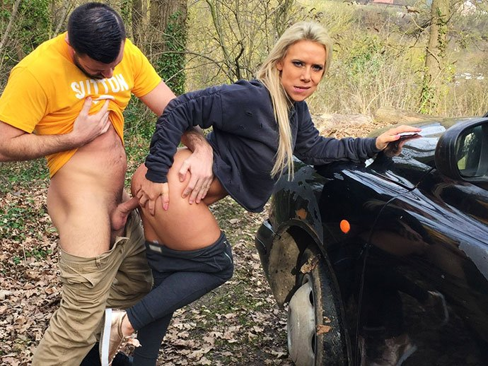 Sasha Steele - Milf Fucks Sutton Fan on Match Day (Deep Throat / Big Tits) [SD] - FemaleFakeTaxi.com