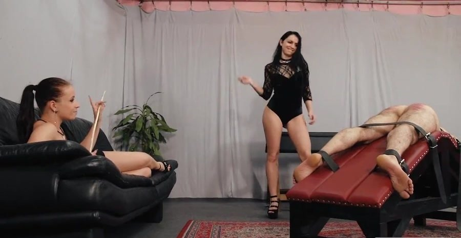 Mistress Anette And Lady Kittina - Late Night Punishment (BDSM / FemDom) [HD 720p] - CruelPunishments.com