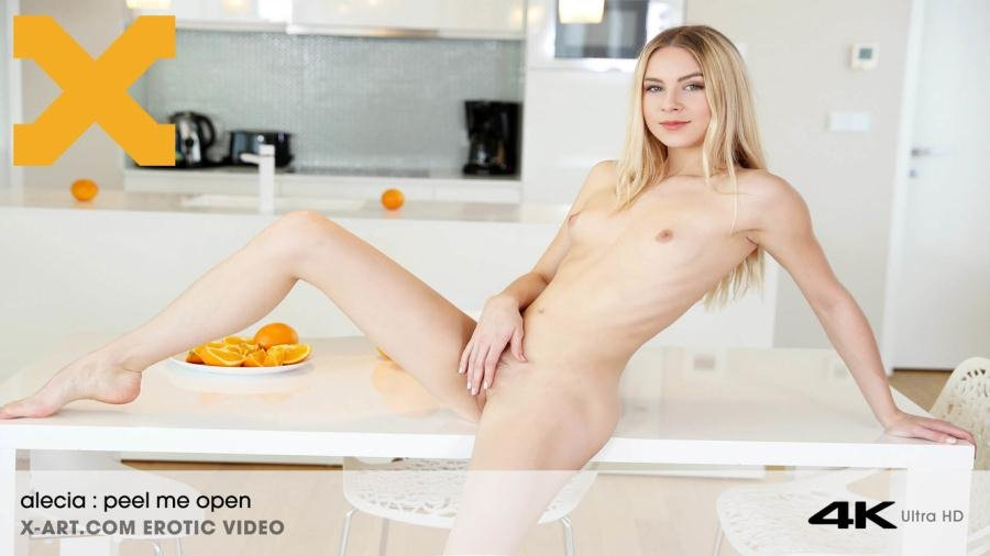 Alecia - Peel Me Open (Blonde / Masturbation) [HD 720p] - X-Art.com